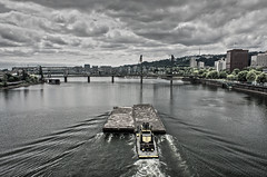 river boat (retsoced) Tags: oregon portland downtown bridges pdx barge willamette pacificnw
