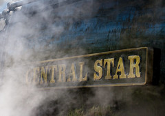 Central Star Name plate (scilly puffin) Tags: train leicestershire steam loughborough steamtrain greatcentralrailway 92214 quornandwoodhouse quornandwoodhousestation centralstar