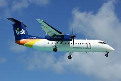 V2-LFF LIAT DHC-8-311B St Maarten 27/10/2014 (Tu154Dave) Tags: beach caribbean stmaarten maho maarten sxm liat dash8 dehavilland dhc8 dhc8300 dhc8311b v2lff