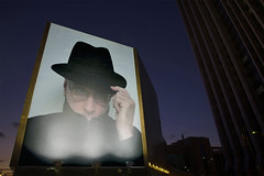 evening billboard