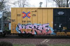 Kerse (quiet-silence) Tags: railroad art train graffiti railcar boxcar graff freight amfm tbox ttx fr8 kerse tbox666030