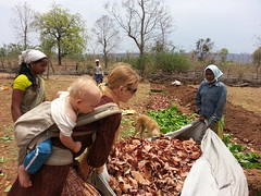 Dry season compost making in the trench