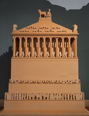 Model of the Mausoleum of Halicarnassus, constructed for King Mausolus during the mid-4th century BC at Halicarnassus in Caria, Bodrum, Turkey (Following Hadrian) Tags: mausoleum bodrum halicarnassus caria halicarnassos maulossos