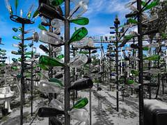 Elmer's Bottle Tree Ranch (nadine3112) Tags: colorkey colorkeying elmersbottletreeranch