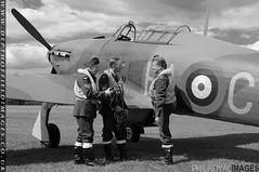 Hurricane Pilots Pre-flight Planning - mono (zoomerphil) Tags: fighter britain hurricane wwii battle pilot hawker aircrew airman