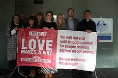 Love Makes A Way at Malcolm Turnbull's Sydney office