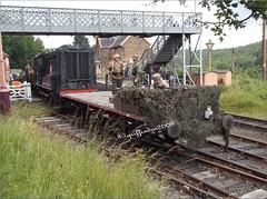 the enemy! (griffindor2009) Tags: germans highleystation severnvalleyrailway fujifilmfinepixt550 railways railroad outdoor vehicle