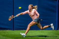 Stretching (tom ballard2009) Tags: game sport ball sussex women lawn tennis eastbourne annalena racket wta devonshirepark friedsam annalenafriedsam