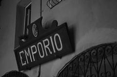 L'emporio... (Pier Romano) Tags: insegna emporio vecchio negozio old shop monocromo black white pieve teco imperia liguria italia italy riviera ligure nikon d5100