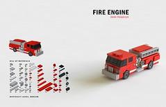 Tiny LEGO Wonders - Fire Engine (drdavewatford) Tags: legobook microscale nostarchpress