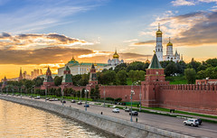 RUSSIE (Voyages Lambert) Tags: travel arranging downtowndistrict goldcolored brick russianculture illuminated history starshape bright red old cultures famousplace constructionindustry architecture kremlin moscow russia reflection night sky river dome wallbuildingfeature cathedral church street townsquare palace tower builtstructure cityscape city town symbol embankment