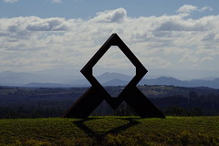 diamond view (Blue Mtns. bush girl) Tags: constable wines hunter valley nsw australia view sculpture frame