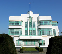 The Hoover Canteen Block, Western Avenue (shadow_in_the_water) Tags: canteenblock hooverbuilding hooverfactory architecture 1938 wallisgilbertandpartners artdeco westernavenue perivale middlesex greaterlondon ub6