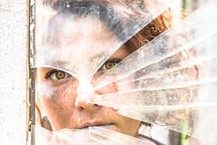 Shattered (tonyajbender) Tags: portrait abstract broken glass artist artistic sister gorgeous creative hazel redhair