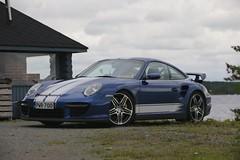 "997 turbo - 018 (Erkka Suominen) Tags: ""cobalt blau porsche"" blue ""bridge gantry"" nürburgring ""porsche 911 turbo"" ""911 ""997 ""pwr700"" ""evoms evt775"" ""evt775"" ""nürburgring bridge pccb"
