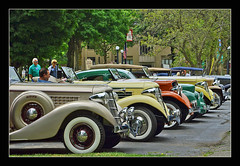 Auburn and Cord Line-up at the Honolulu House (sjb4photos) Tags: acdclubmarshallmeet acdclub2016canam auburn cord