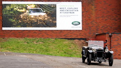 Old meets new ... (badhands13) Tags: car wall advertising billboard hoarding brickwall advert landrover rangerover frazernash 1926