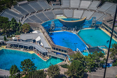 Shamu Stadium at SeaWorld San Diego CA (mbell1975) Tags: sandiego california unitedstates us shamu stadium seaworld san diego ca sea world cal calif usa america american park parc zoo aerial view water pool