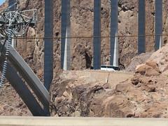 Boulder Dam, Nev. (Dan_DC) Tags: tourbus hooverdam rock lakemead nevadaarizonaborder bridge concrete roadway desert