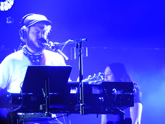 (kristen mckeithan) Tags: eaux claires 2016 eauxclaireswi music festival eau claire wisconsin august nightfall night dark justin vernon bon iver 22 million blue light 12th staves
