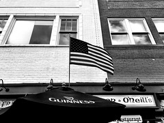 Irish American (Dennis Sparks) Tags: blackwhite michigan annarbor conoroneills guinness flag irishamerican