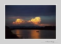 Rhin-1313 (Photo Passion Benoit) Tags: cocherdesoleil aurore crpuscule ried alsace rhin fleuve paysage eau reflet pcheur