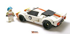 Ford GT racing (ZetoVince) Tags: vince zeto zetovince lego greek ford gt gt40 car racing