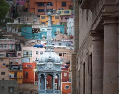 Market Clock (Guanajuato, Mxico. Gustavo Thomas  2016) (Gustavo Thomas) Tags: old city colour clock mxico architecture arquitectura ancient market ciudad colores mexican mercado busy reloj viejo march guanjauato