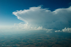 Storms ahead (Chris Brady 737) Tags: therebeastormabrewin storm cumulonimbus uk england aerial inflight weather summer