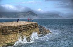 The Cobb at Lyme Regis, Dorset (Baz Richardson (trying to catch up!)) Tags: dorset lymeregis lymebay thecobb cliffs coast