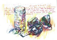 PROYECTO 132-35-BASURAS (GARGABLE) Tags: angelbeltrn gargable bocetos composicin colores papel cartulinas linea letras proyecto 132 35 36 uskspain basura