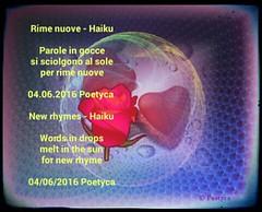 Rime nuove (Poetyca) Tags: featured image haiku di poetyca immagini e poesie sfumature poetiche poesia