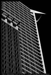 Giant Rising (reassembling.visions) Tags: frankfurtammain architecture nikond800 carlzeiss manualfocus manuallens aposonnart2135 summer skyscraper blacksky