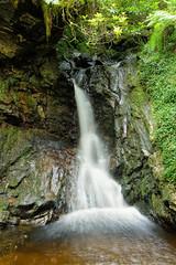 Pucks Glen Large Waterfall (Click And Pray) Tags: managedbyclickandpraysflickrmanagr stream river landscape scotland scottish argyll forest wood woodland portraitformat waterfall longexposure streamriverlandscapescotlandscottishargyllforestwoodwoodlandportraitformatwaterfalllongexposurepucksglengbr