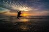 ::Flying Kick:: (ARULFIKRI) Tags: landscape nature sea seascape reflaction silhouette moment serene sky ocean potrait sunrise outdoor shore water beach
