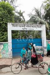H504_3524 (bandashing) Tags: rickshaw women girls hijab burkah niqab headscarf gates street building sylhet manchester england bangladesh bandashing aoa socialdocumentary akhtarowaisahmed