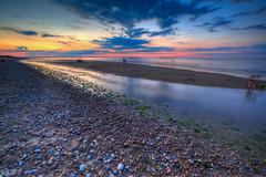 Sandy Neck (Jonathan O'Brien) Tags: landscape sunset beach water clouds capecod rocks sand