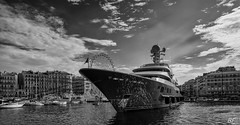 Boat in Marseille !!!! (poupette1957) Tags: art atmosphre architecture black beach boat canon city curious french grandangle graphisme sky landscape monument marseillesreet monochrome marseille noiretblanc photographie rue street sea town travel urban ville