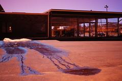 seepage (aismist) Tags: blue puddle parkinglot leak desolate snowmelt cokin173
