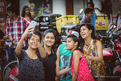 "The Selfie Generation.. (Sam Gupta Photography) Tags: girls people india smile canon candid group generation newdelhi selfie canonindia canoneos60d ""flickraward"" canonefs18200mmis samguptaphotography raahgiri"