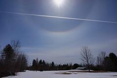 Solar Halo and Contrail No. 3 (ikewinski) Tags: sun halo contrails solarhalo