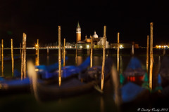 Venice at Night (Strange Quark) Tags: longexposure venice summer italy night gondola pylons sangiorgiomaggiore canon24105l venetianlagoon 201408013607