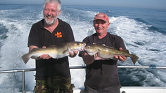 "Andy Sheader and Brian Sims catching Cod at Weymouth • <a style=""font-size:0.8em;"" href=""http://www.flickr.com/photos/113772263@N05/16980308529/"" target=""_blank"">View on Flickr</a>"