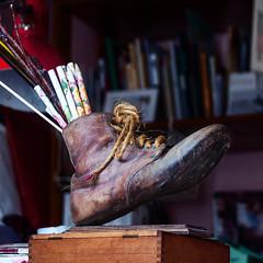 Shoe Pencil Case (jorapa) Tags: old pencil shoe catalonia case catalunya jorapa