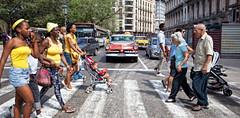 Cuba 0321-2 (losicar) Tags: road old classic cars havana cuba retro 1950s abbeyroad classiccars zebracrossing backintime