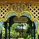 Wood carvings and paintings details in the Botanical Garden of Thai Literature in Muang Boran (Ancient Siam) in Samut Prakan, Thailand thumbnail