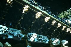 3-28-52- Yomeimon Gate- Detail- Nikko- Japan (foundslides) Tags: irmalouisecarter irmalouiserudd asia nippon japanese pacific east orient oriental 1952 1950s tour tourists americantourist air travel vintage retro slides slide kodachrome kodak photography photos pics pix oldphotos oldpictures oldslides transparency transparencies colorslides film slidefilm slideshow culture irma lousie rudd irmarudd postwar japan ww2 wwii tokyo kyoto nikko travelling trip vacation holiday family traveller photographic outdoor landscape redborder foundslides johnrudd analog slidecollection