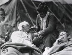 U.S. Army Evacuation Hospital Nos. 6 & 7, Souilly, France, Red Cross worker Miss Anna Rochester (National Library of Medicine - History of Medicine) Tags: france hospital wounded photographs soldiers redcross nationallibraryofmedicine