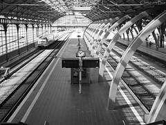 No Trains Today (ChristianeBue) Tags: urban bw station architecture train germany deutschland zug bahnhof hauptbahnhof architektur sw lbeck triebwagen