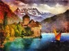 Castle On The Lake (Armon Aeon) Tags: castle museum digitalart creative impressionism artshow chateau vividart maxfudge awardtree arttate